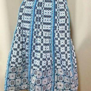 Ann Taylor Loft Flare Midi A Line Skirt Size 2